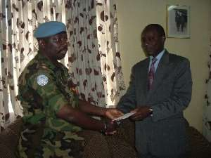 Soldiers Donate To 'Dollar-A-Month For Ghana Fund'