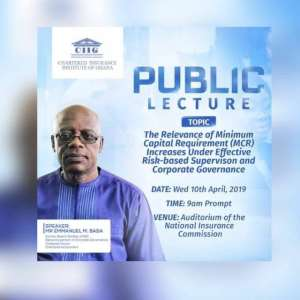 CIIG Holds Public Lecture For Insurance Players On Risk-Based Supervision, Corporate Governance
