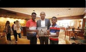 CAF Boss Ahmad Ahmad Fulfils Cairo Promise To Ghanaian School Kids