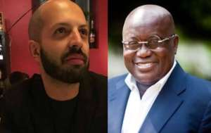 Italian journalist, Lorenzo Lamperti and Nana Akufo Addo