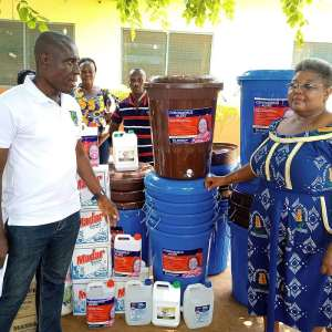 Hon. Naana Eyiah Donates Hundreds Of Items To Boost Personal Hygiene