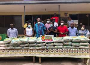 Lockdown: NAPO Presents Food Items To Two Children's Homes In Kumasi