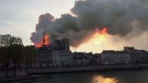 Notre Dame Cathedral In Paris Catches fire