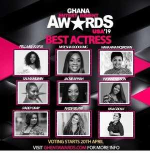 Moesha, Jackie Appiah, Nadia Buari, Others Nominated For Ghana Entertainment Award USA