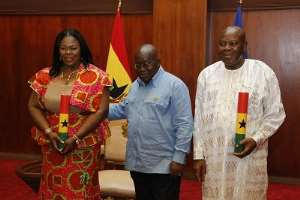 President Akufo-Addo told Mrs. Kumi Richardson to shame her critics during her swearing in.
