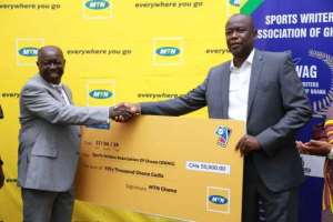 MTN Presents GH¢ 60,000.00 Towards 44th SWAG Awards Gala Night