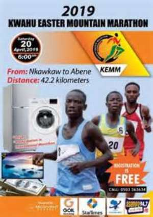 All Set For Kwahu Easter Mountain Marathon On Saturday