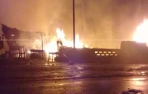 Part Of Kumasi Central Market Spark Fire