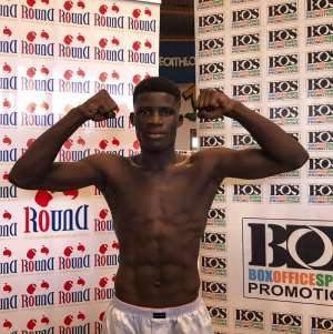 Alfred Lamptey Eyes National Featherweight Title Belt