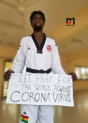 Ghana Taekwondo Federation's Nii Armah Davidson Joins The Fight To Kick Coronavirus Away