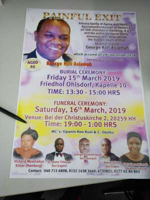 NPP Germany Family Extends Appreciation To All During Bereavement