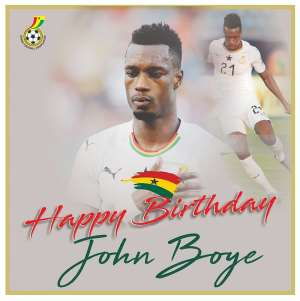 Ghana FA Celebrates Black Stars Defender John Boye On 33rd Birthday