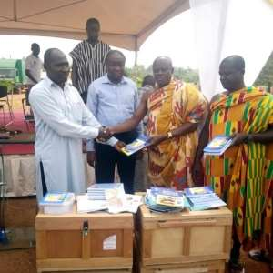 Some chiefs receive books on behalf of their communities