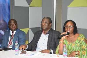 (From right) Dr. Kazia Malm, Dr. Badu Sarkodie and Henry Ampong