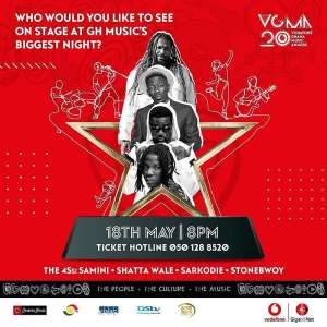 Music fans call for Samini,Shatta Wale and Stonebwoy to headline 20th edition of VGMA