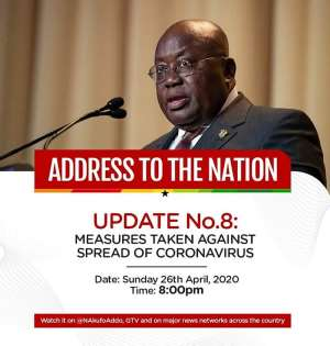 Akufo-Addo Extends Ban On Public Gathering For Two More Weeks
