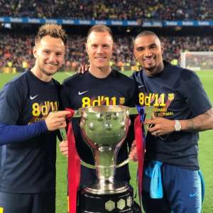 HISTORIC: KP Boateng Becomes The First Ghanaian To Lift Spanish La Liga Title