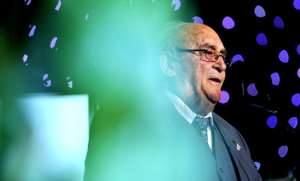 Rivonia trialist Denis Goldberg speaking at a gala event in 2011 to honour the surviving members of the Rivonia Trial. - Source: Photo by Foto24/Gallo Images/Getty Images