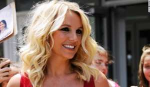 Singer Britney Spears during happy times