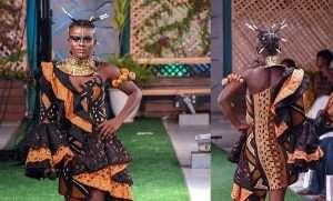 Wiyaala Models and Sings at Accra Fashion Week