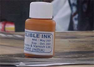 Expired Indelible Ink Used For Registration Exercise