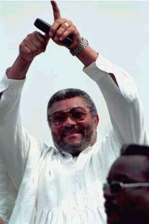 Rawlings whips up support for NDC candidate