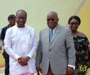 President Nana Addo with Finance Minister Ken Ofori-Atta