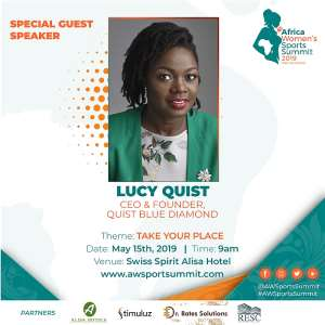 Lucy Quist Speaks At Africa Women's Sports Summit May 15