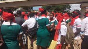 Unemployed Nurses Protesting