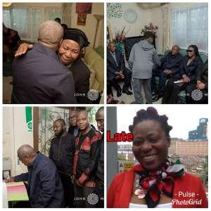 Mahama Visits Family Of Late Louisa Nelson