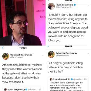 Screenshots: Columnist Rex Krampa And Jon Benjamin At It Again!