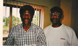 An old photo with the great writer and journalist, left, Mr. George Sydney Abugri and right, writer Joel Savage