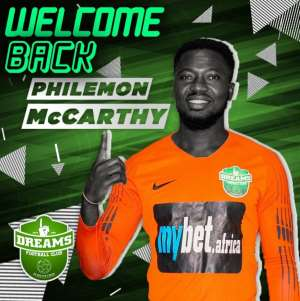 OFFICIAL: Dreams FC Sign Experienced Goalkeeper Philemon McCarthy