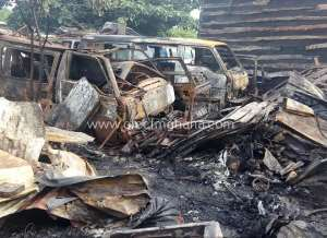 Kumasi: Fire Destroys 12 Cars, 5 Auto Mechanic Shops