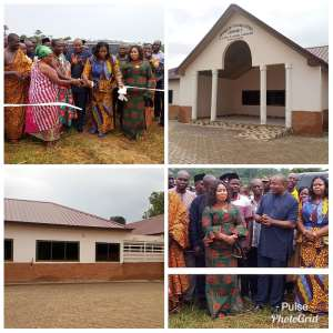 Bono Minister Opens Modern Assembly, 6-Unit Classroom Block In Banda District