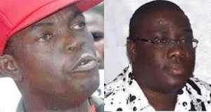 Kwesi Pratt on the left and Sammy Awuku on the right
