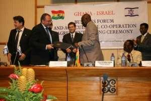 Ghana's Foreign Minister, Mr. Muhammad Mumuni, right, with Mr. Avigdor Lieberman: Photo credit-Ghana media