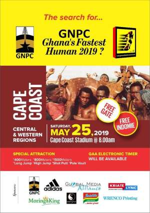 2019 GNPC Ghana's Fastest Human To Hit Cape Coast On May 25