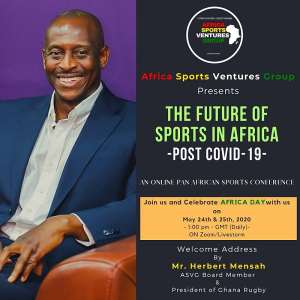 ASVG Presents Online Sports Conference On The Future Of Sports In Africa - Post Covid -19 On May 24 / 25