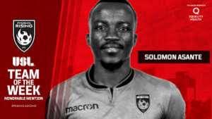 Solomon Asante Earns Spot On USL Championship Team Of The Week