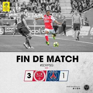 Baba Rahman Scores For Stade De Reims To Help Them Beat PSG 3-1