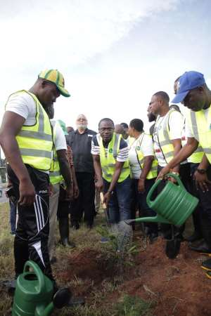 Ahead Of June 4th: JJ Rawlings Partner With Zoomlion For Tree Planting