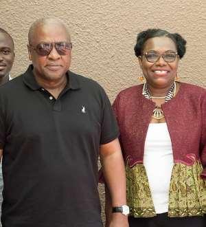 Nana Oye Lithur with Fmr Prez Mahama