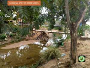 MCE Inspects Dredging At Agbogba Happy Home, Dome North Area