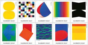 U.S. Postal Service Honors the Art of Ellsworth Kelly with Stamps