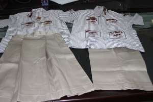 Samples of new JHS uniform