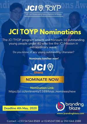 JCI Ghana Opens Nominations For TOYP Awards
