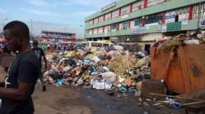 Filth at Kaneshie market
