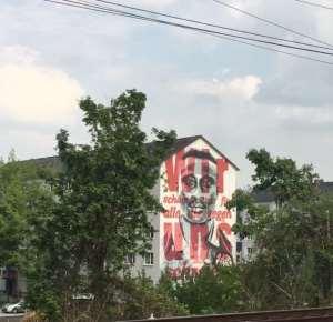 Anthony Yeboah's Painting Emerges On The Street Of Frankfurt