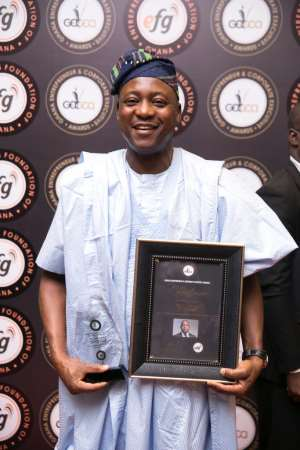 MD/CEO Of First Atlantic Bank Odun Odunfa Grabs Award
